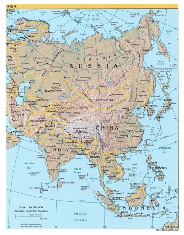 Relieve de Asia 2002