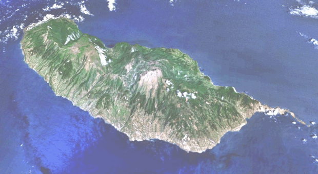 Satellite Image, Photo of Madeira Island, Portugal