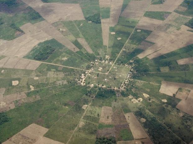 Satellite Image, Photo of San Javier East of Santa Cruz, Bolivia