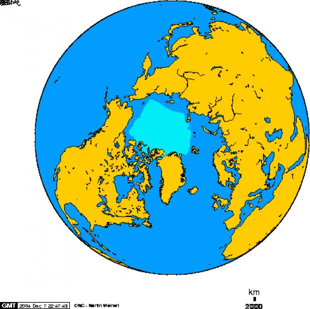 Superficie de hielo Ártico en Septiembre 1978-2002