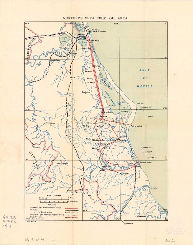 Área Petrolera del Norte de Veracruz, México 1919